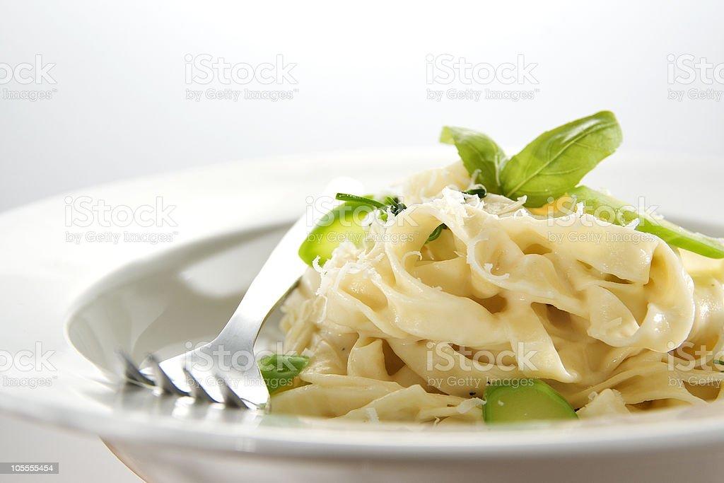 Fresh Vegetarian Pasta royalty-free stock photo