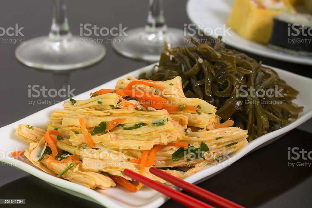 Fresh vegetarian salad stock photo
