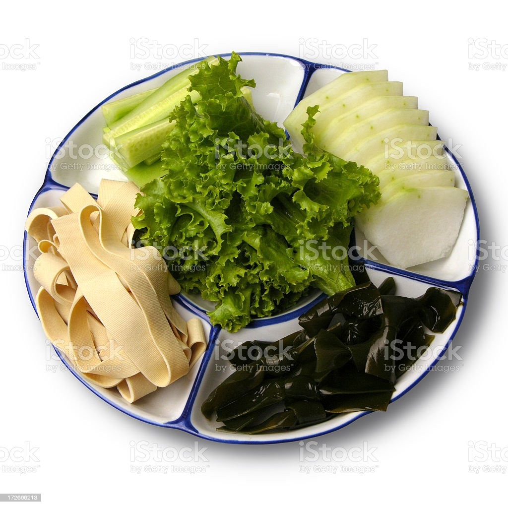 Fresh vegetative products (the Chinese kitchen) stock photo