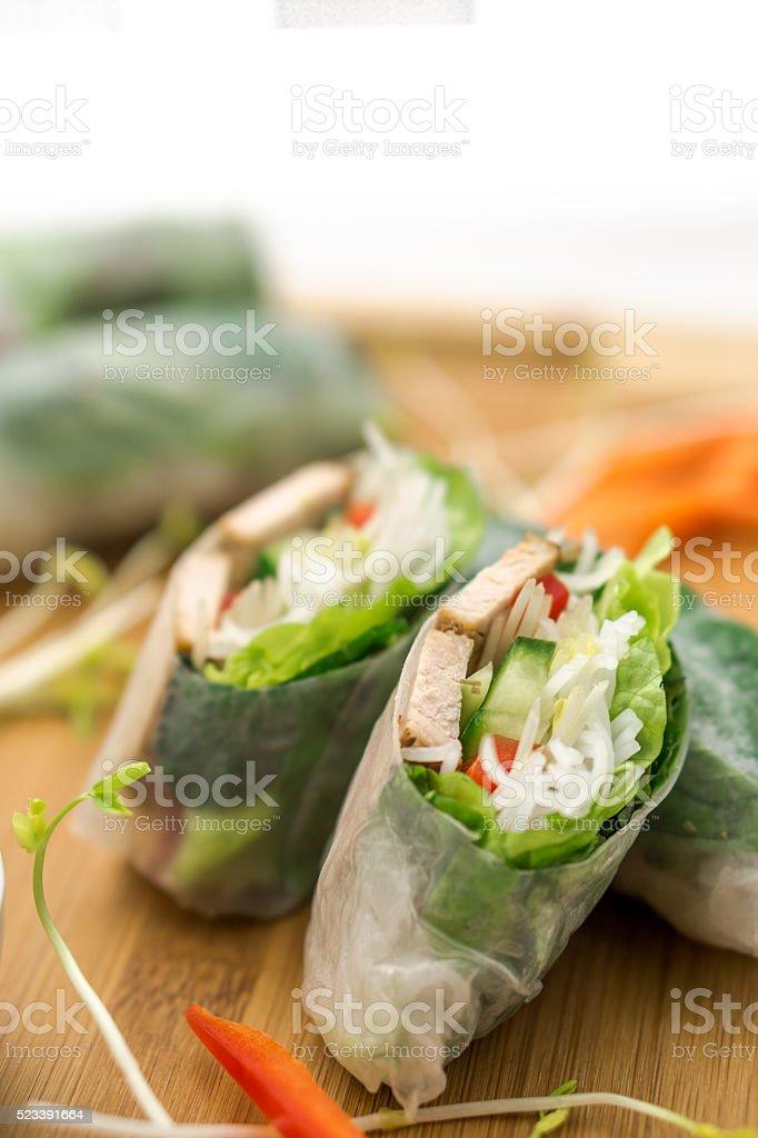 Fresh Vietnamese Spring Rolls stock photo