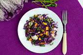Fresh vitamin fitness salad of red cabbage