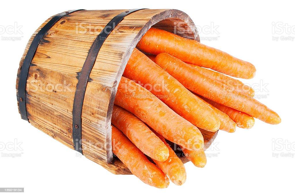 Fresh washed carrots royalty-free stock photo