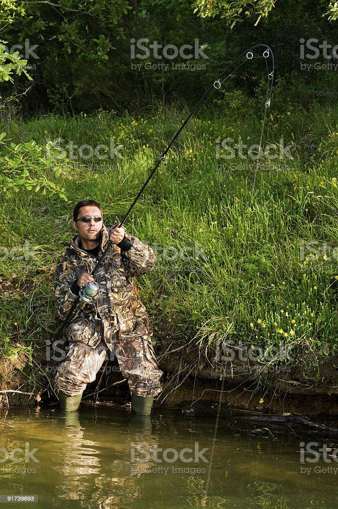 Fresh water angler royalty-free stock photo