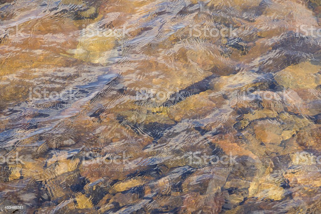 Fresh water flowing over pebbles royalty-free stock photo