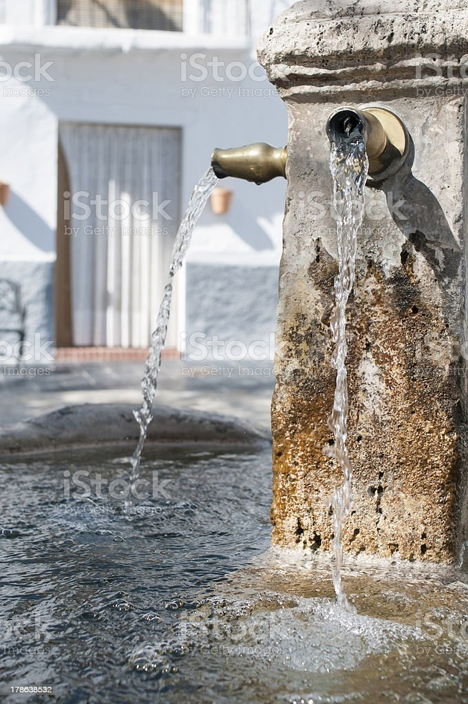 Fresh water fountain stock photo