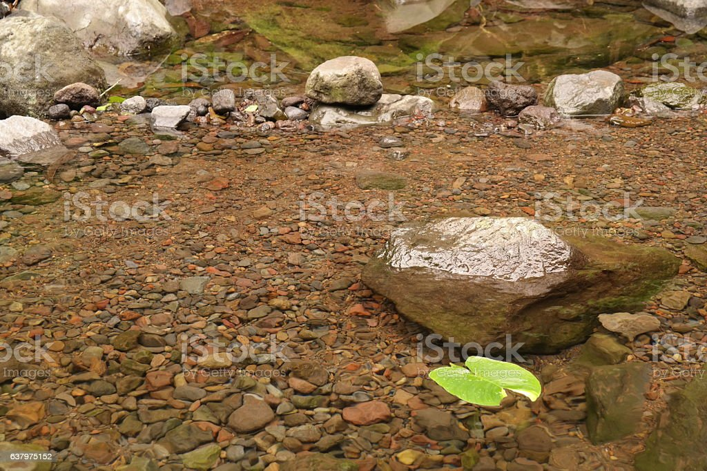 Fresh water from spring stock photo