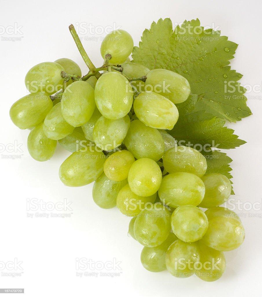 Fresh white grapes royalty-free stock photo