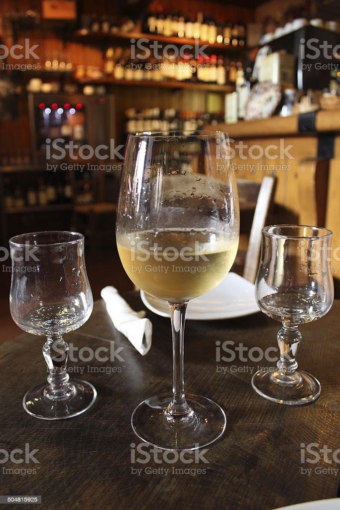Fresh white wine glass royalty-free stock photo