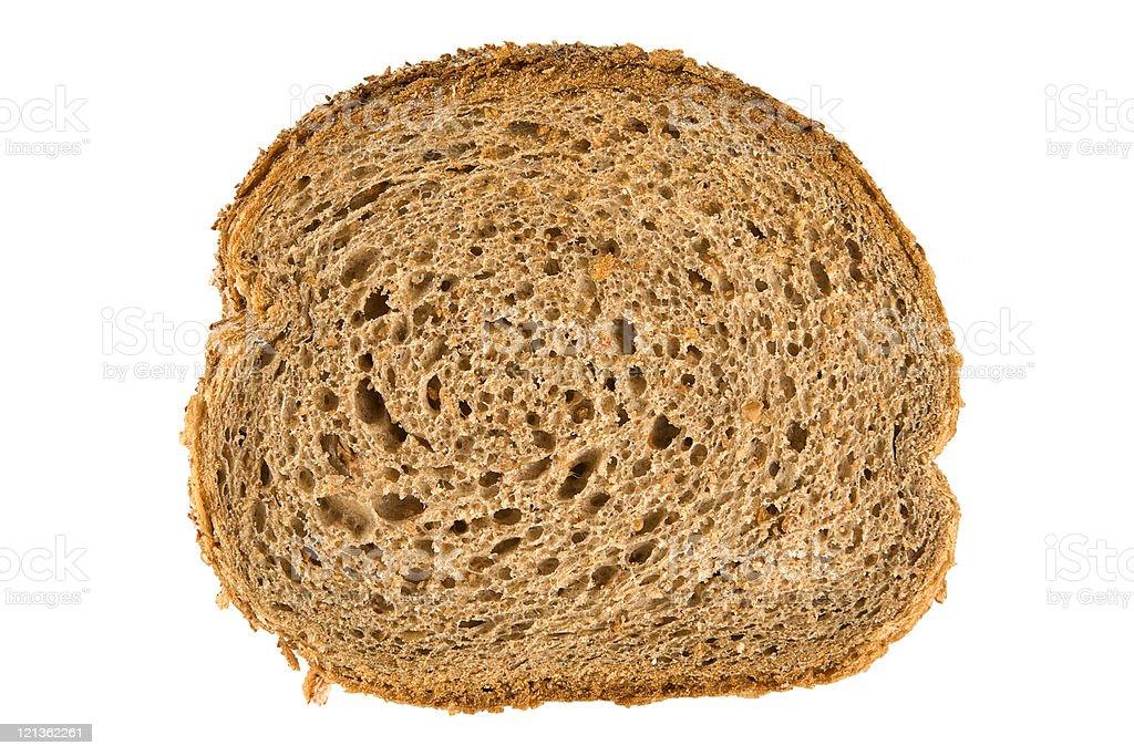 Fresh whole wheat bread slice royalty-free stock photo