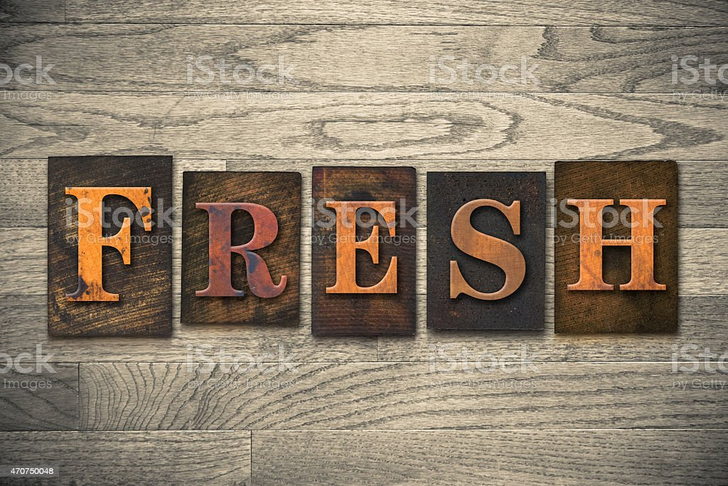Fresh Wooden Letterpress Theme stock photo