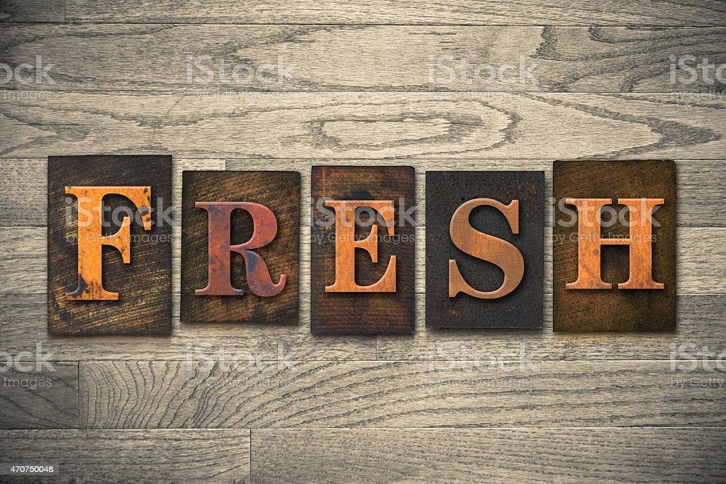 Fresh Wooden Letterpress Theme stock photo