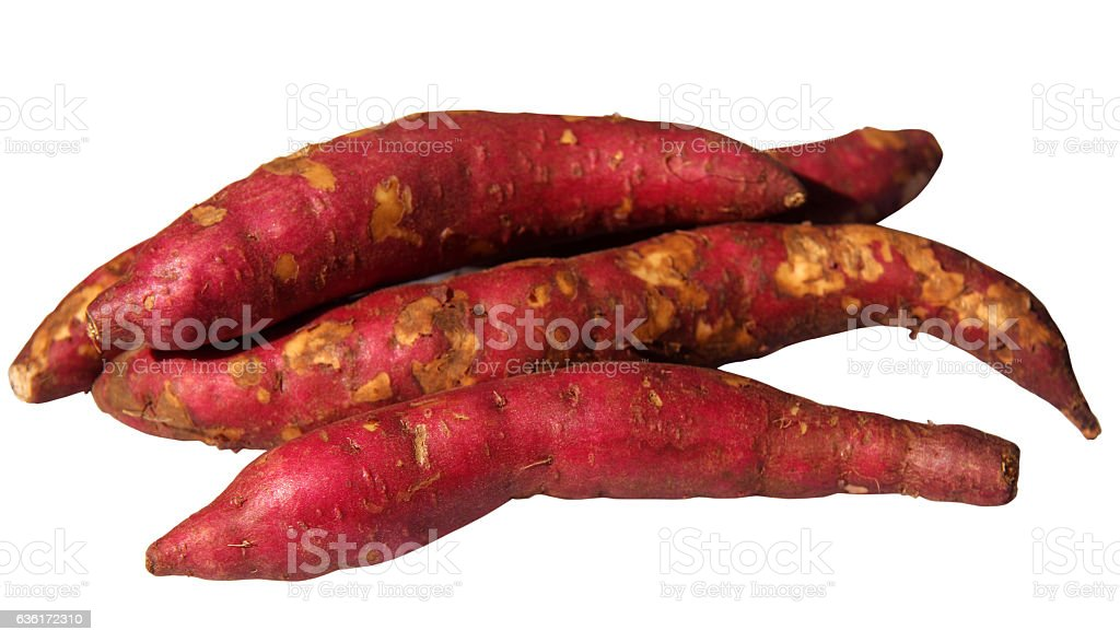 Fresh yams stock photo