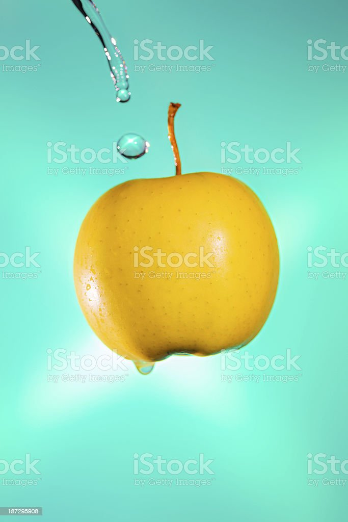 Fresh yellow apple royalty-free stock photo