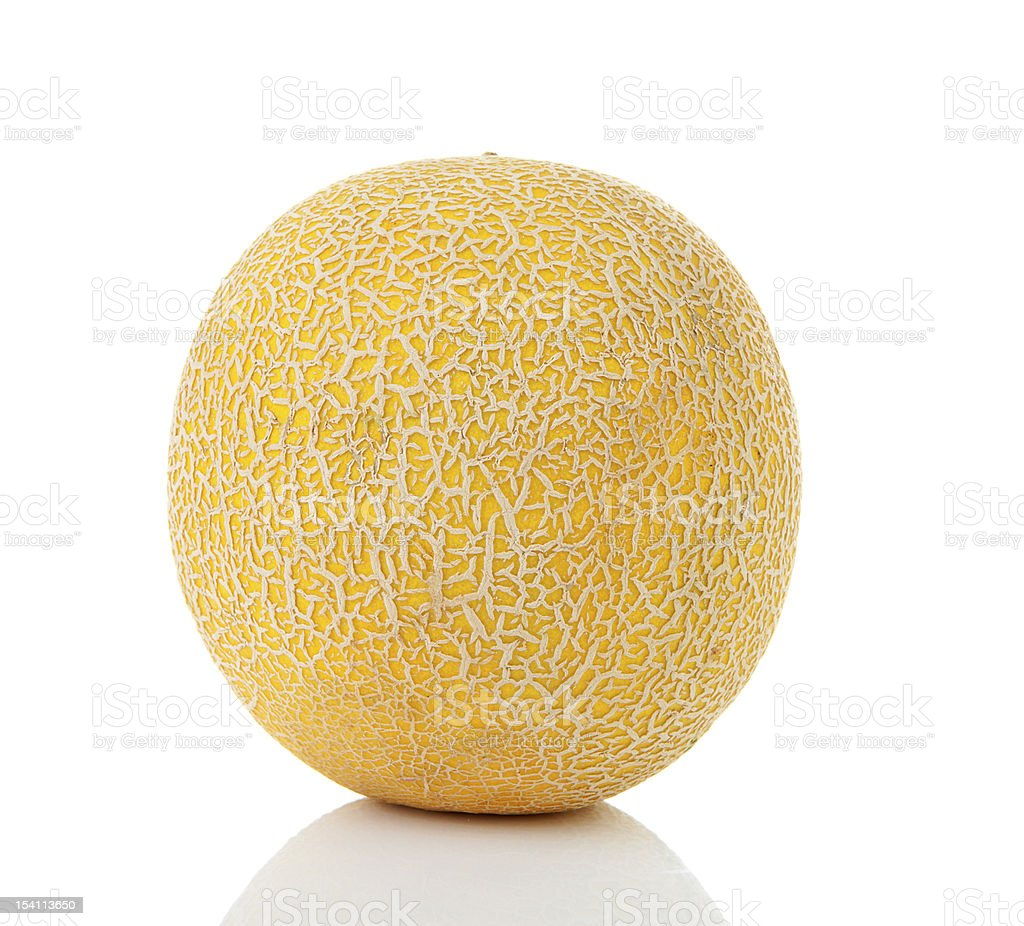 Fresh yellow cantaloupe melon royalty-free stock photo