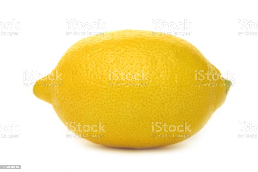 fresh yellow lemon on white background royalty-free stock photo