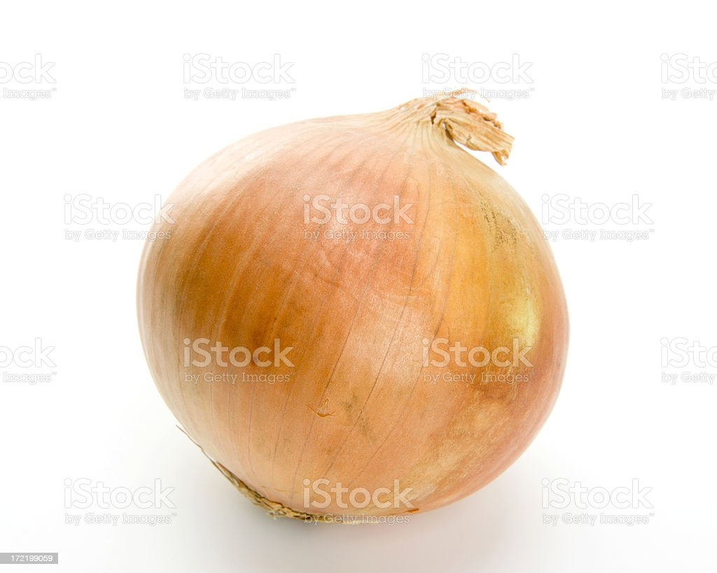 Fresh Yellow Onion Isolated on a White Background royalty-free stock photo