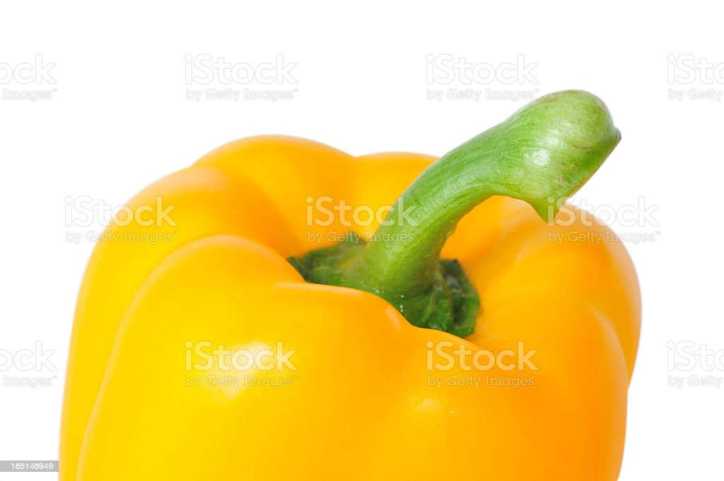 Fresh Yellow Paprika royalty-free stock photo