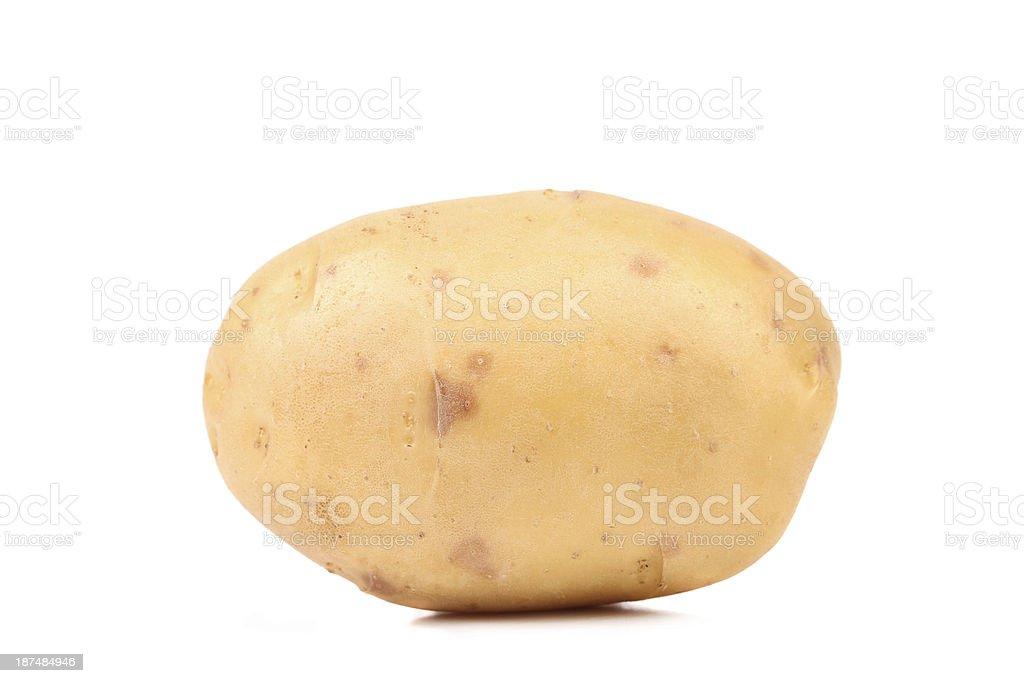 Fresh yellow potato. royalty-free stock photo