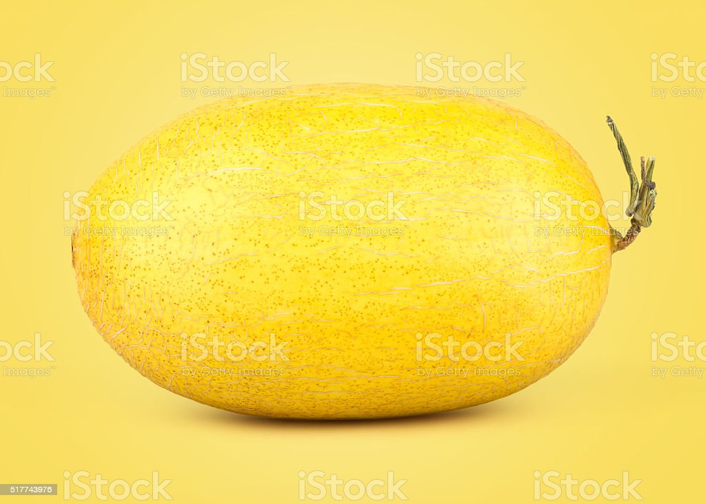 Fresh Yellow Sweet Melon stock photo