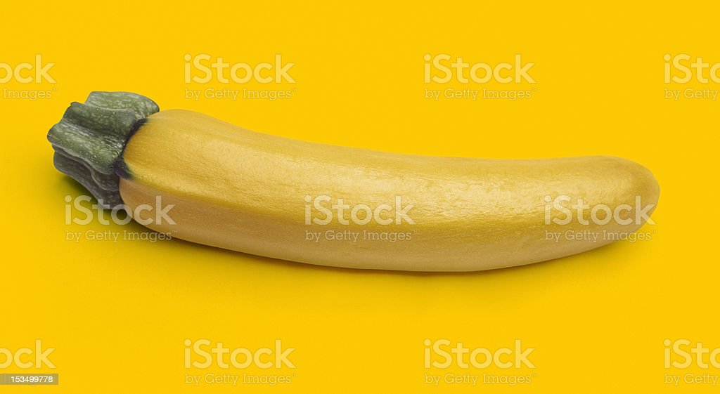 Fresh yellow zucchini with clipping path royalty-free stock photo