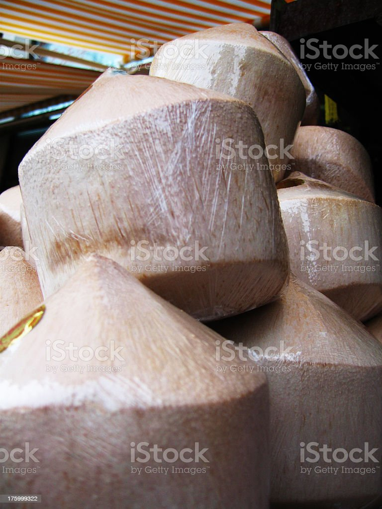 fresh young coconuts royalty-free stock photo