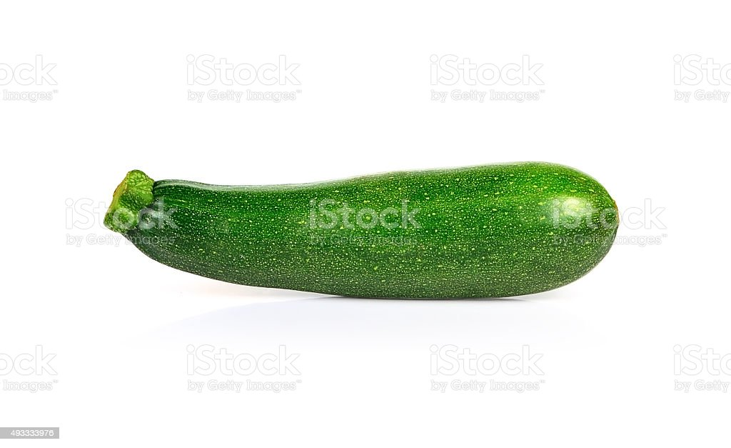 Fresh zucchini isolated on white stock photo