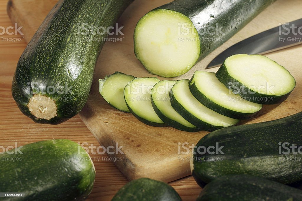 fresh Zucchini stock photo