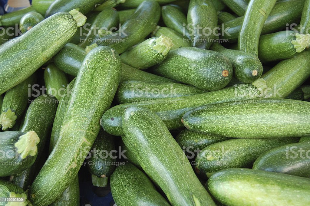 fresh zucchini royalty-free stock photo