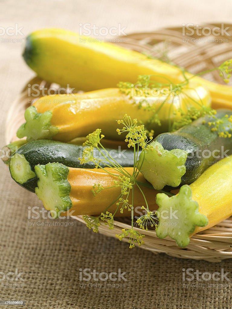 Fresh zucchini stock photo