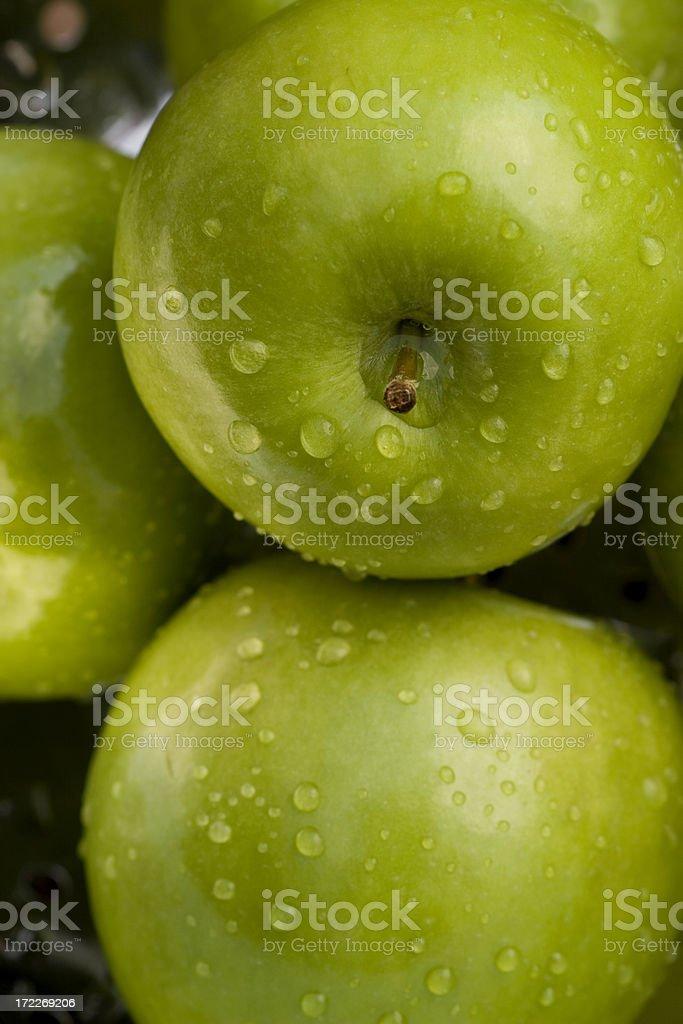Freshl green apples stock photo