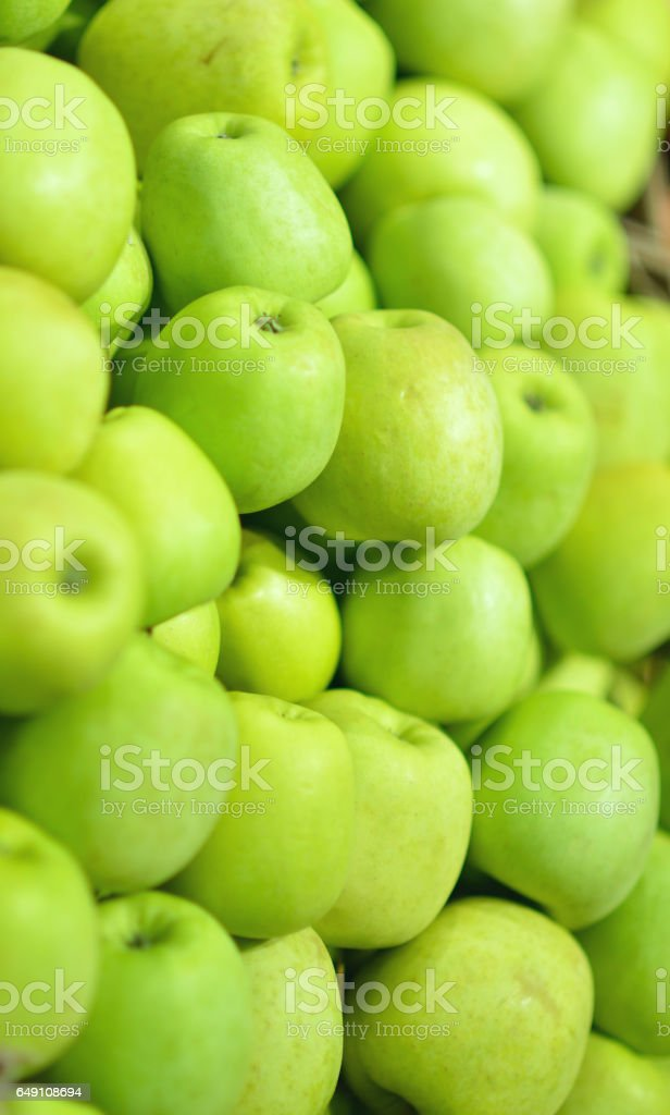 Freshly apples at a local farmers market stock photo