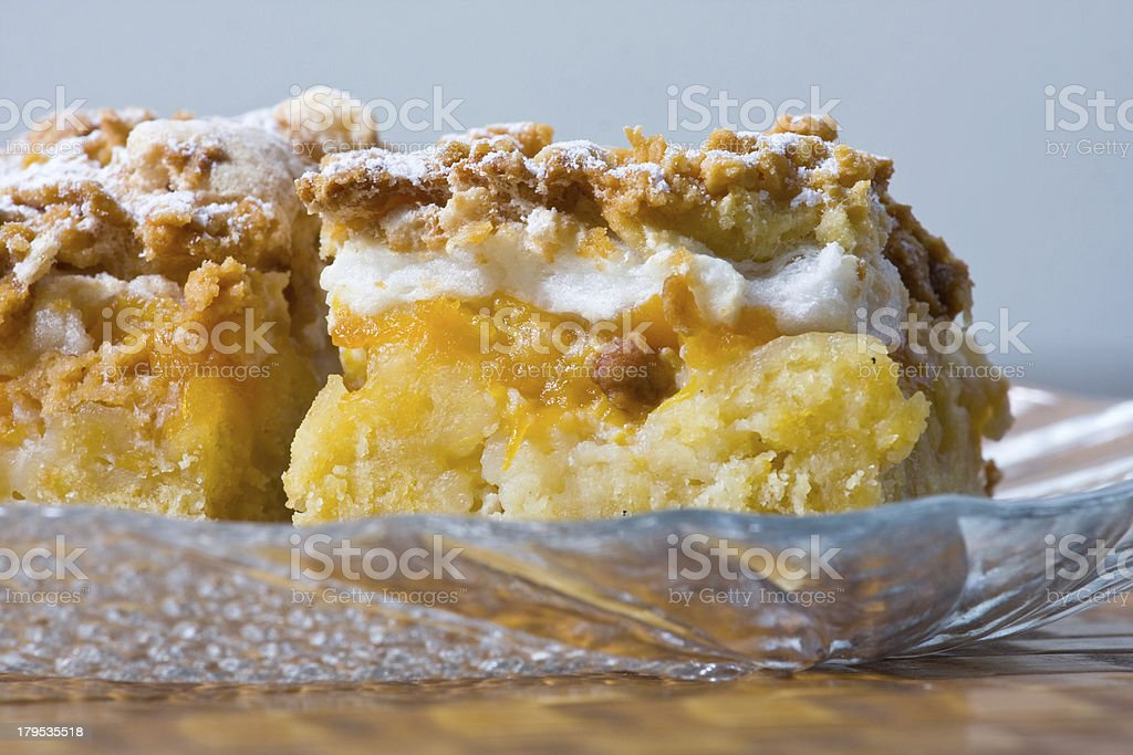 Freshly baked apple pie, close up stock photo