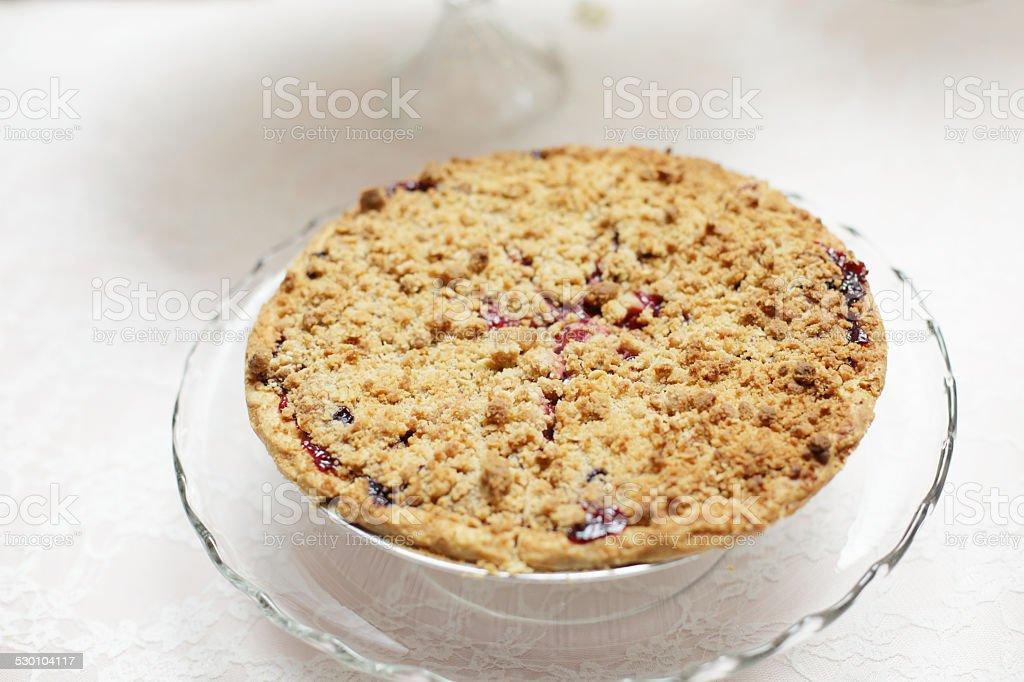 Freshly Baked Cherry Pie stock photo