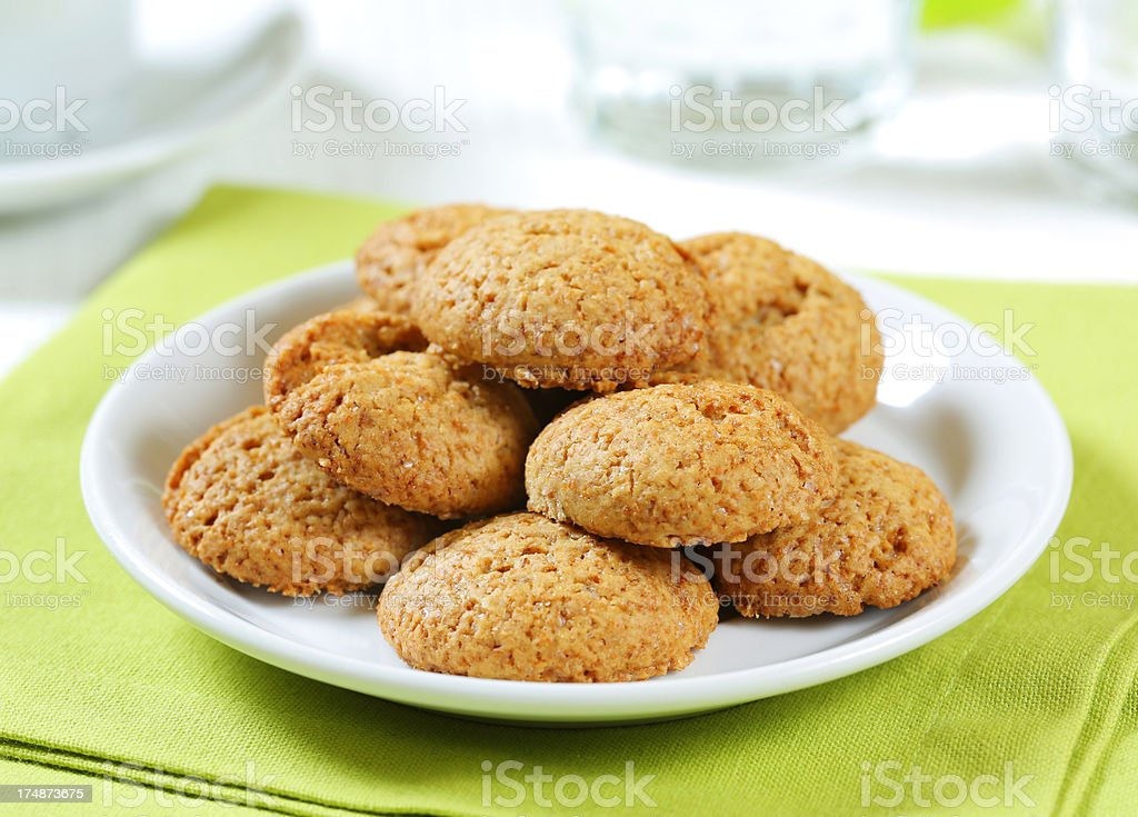 Freshly baked coconut macaroons royalty-free stock photo