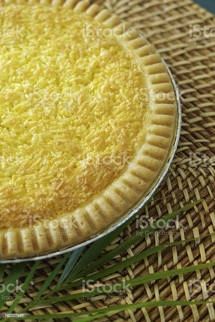 Freshly Baked Coconut Pie stock photo