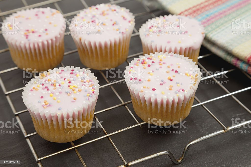Freshly baked cupcakes stock photo