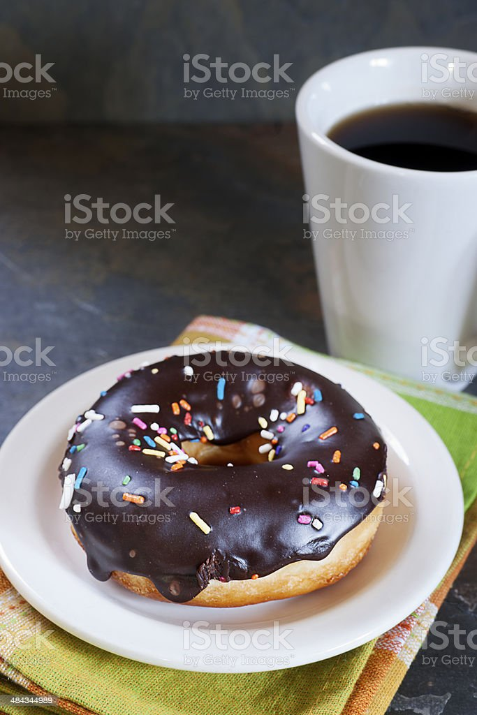 Freshly Baked Donut with Icing royalty-free stock photo