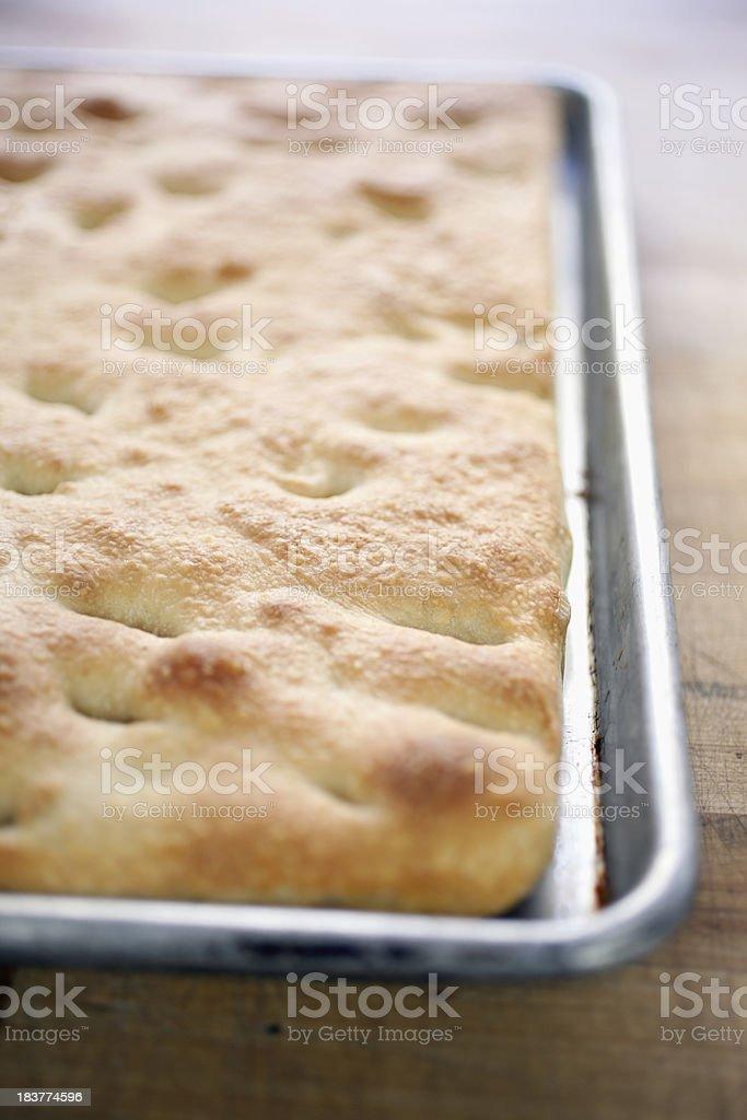 freshly baked foccacia bread royalty-free stock photo