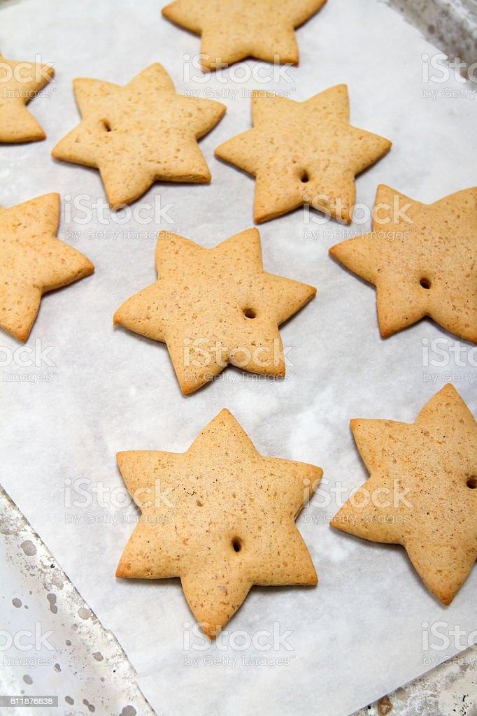 Freshly baked gingerbread stock photo