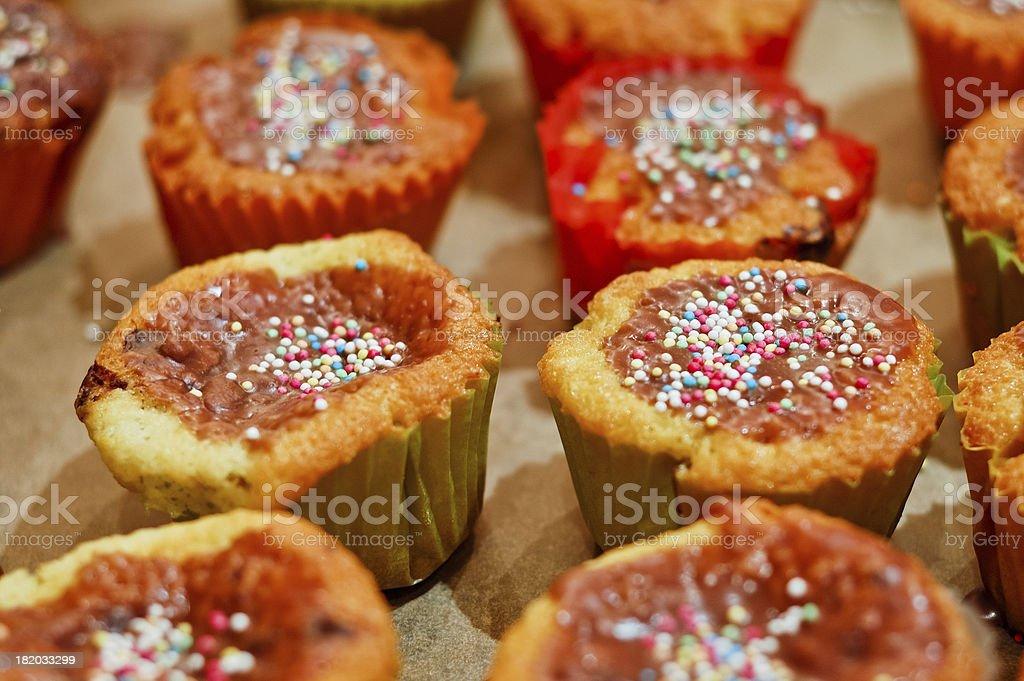 Freshly baked homemade muffins stock photo