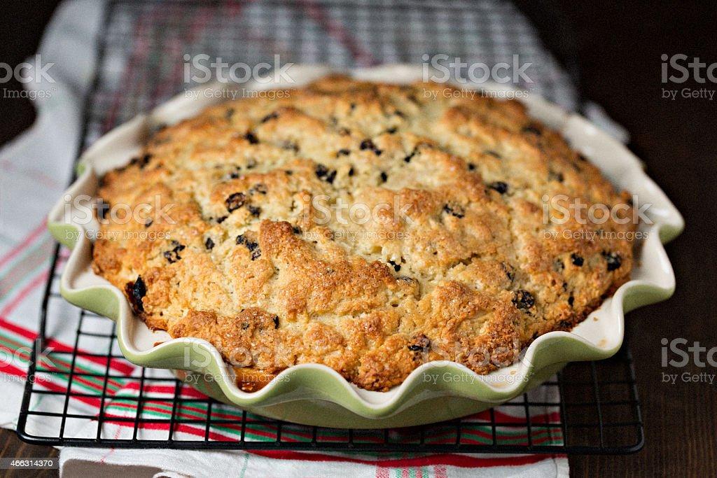Freshly Baked Irish Soda Bread stock photo