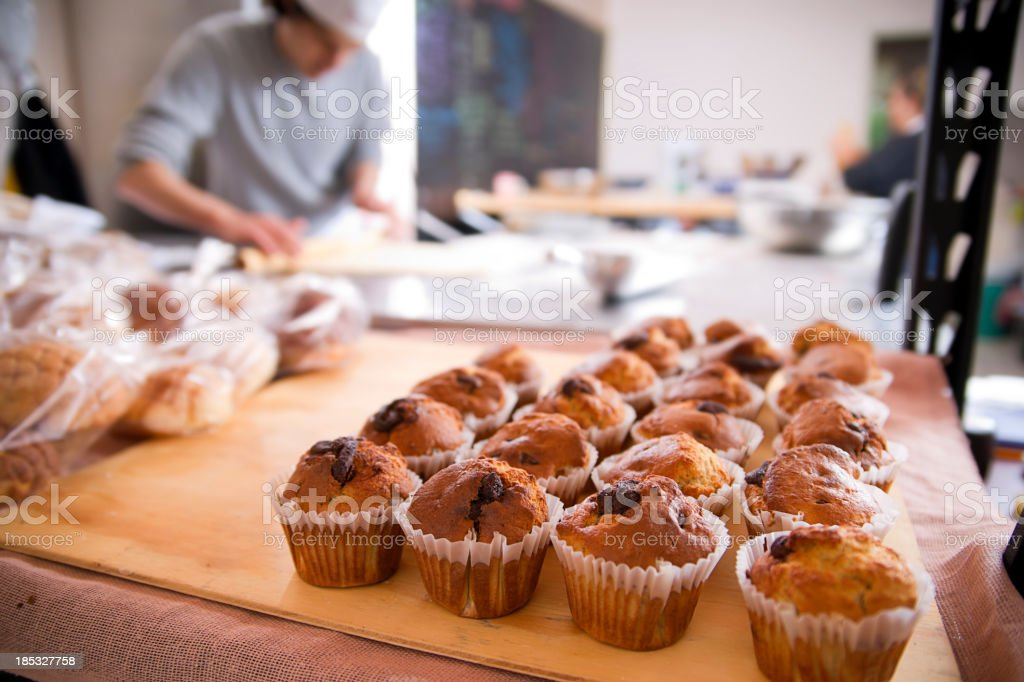Freshly Baked Muffins stock photo