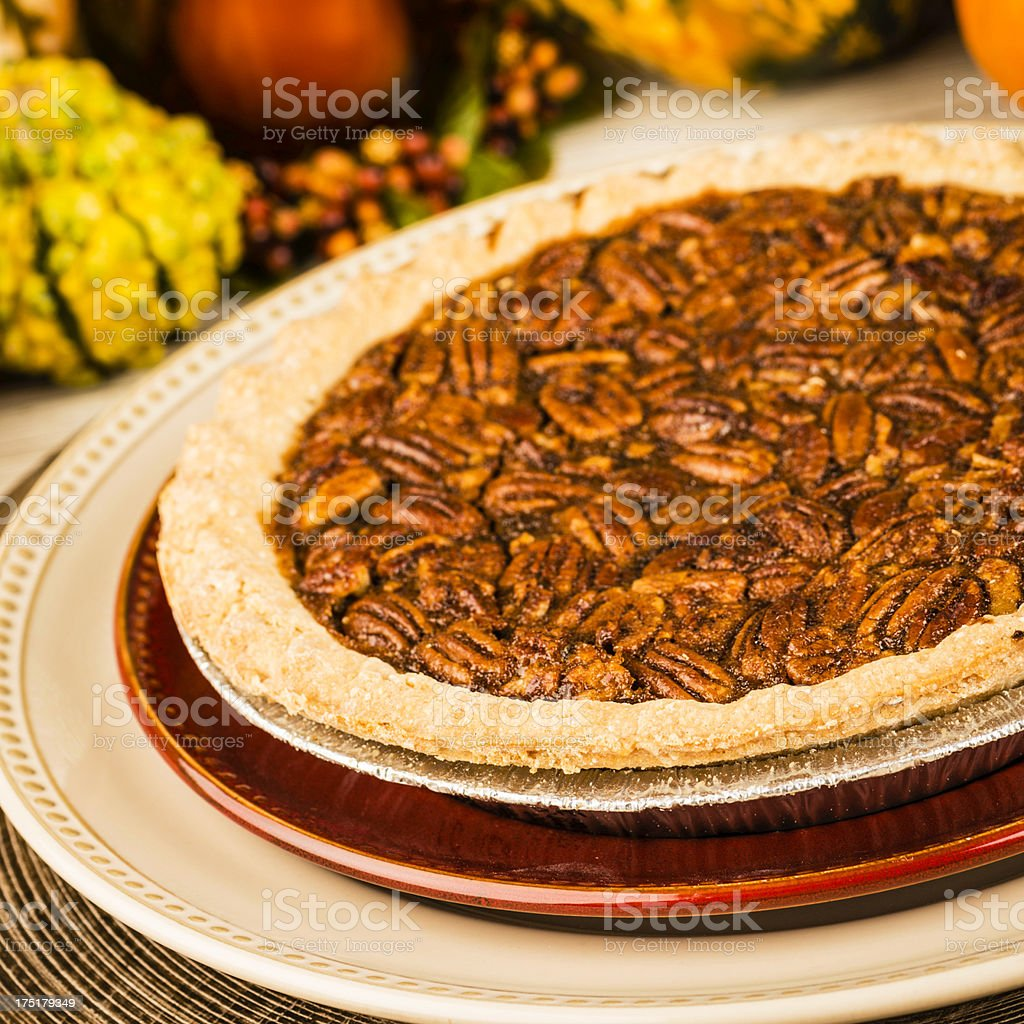Freshly Baked Pecan Pie royalty-free stock photo