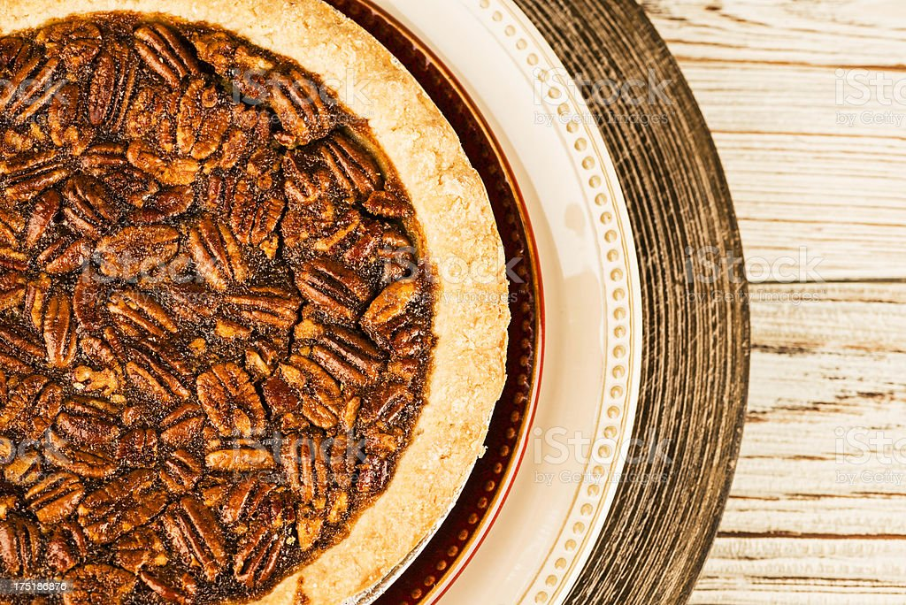 Freshly Baked Pecan Pie royalty-free stock photo