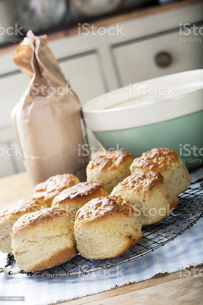 Freshly baked scones royalty-free stock photo