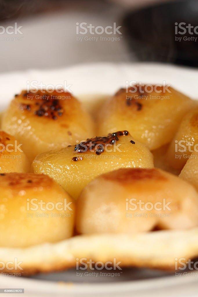 Freshly baked tart stock photo