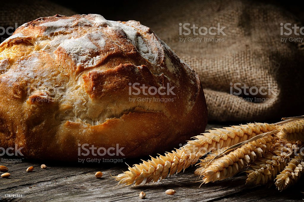 Freshly baked traditional bread royalty-free stock photo