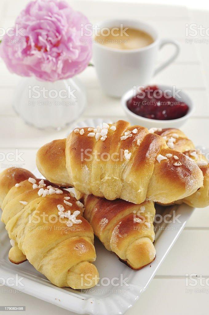Freshly bakes Croissants royalty-free stock photo