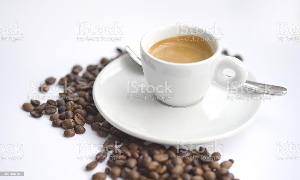 Freshly brewed espresso coffee royalty-free stock photo