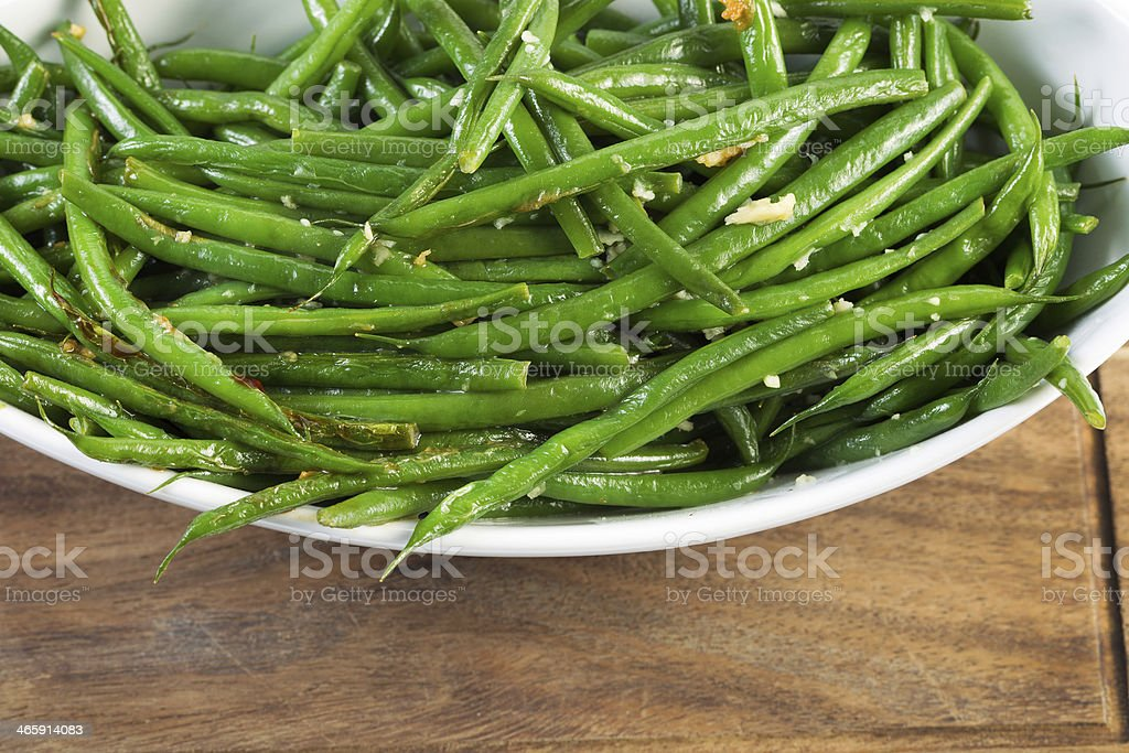 Freshly Cooked Green Beans stock photo